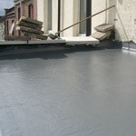 flat roof in fibreglass